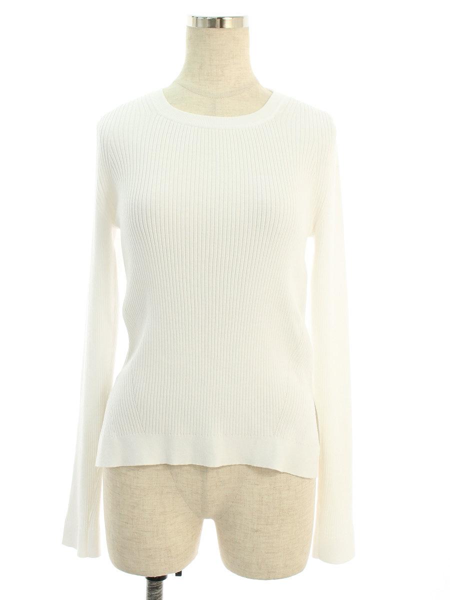 フォクシーブティック ニット セーター 38091 Knit Top Basic Rib 長袖 42【Aランク】【中古】tn190616