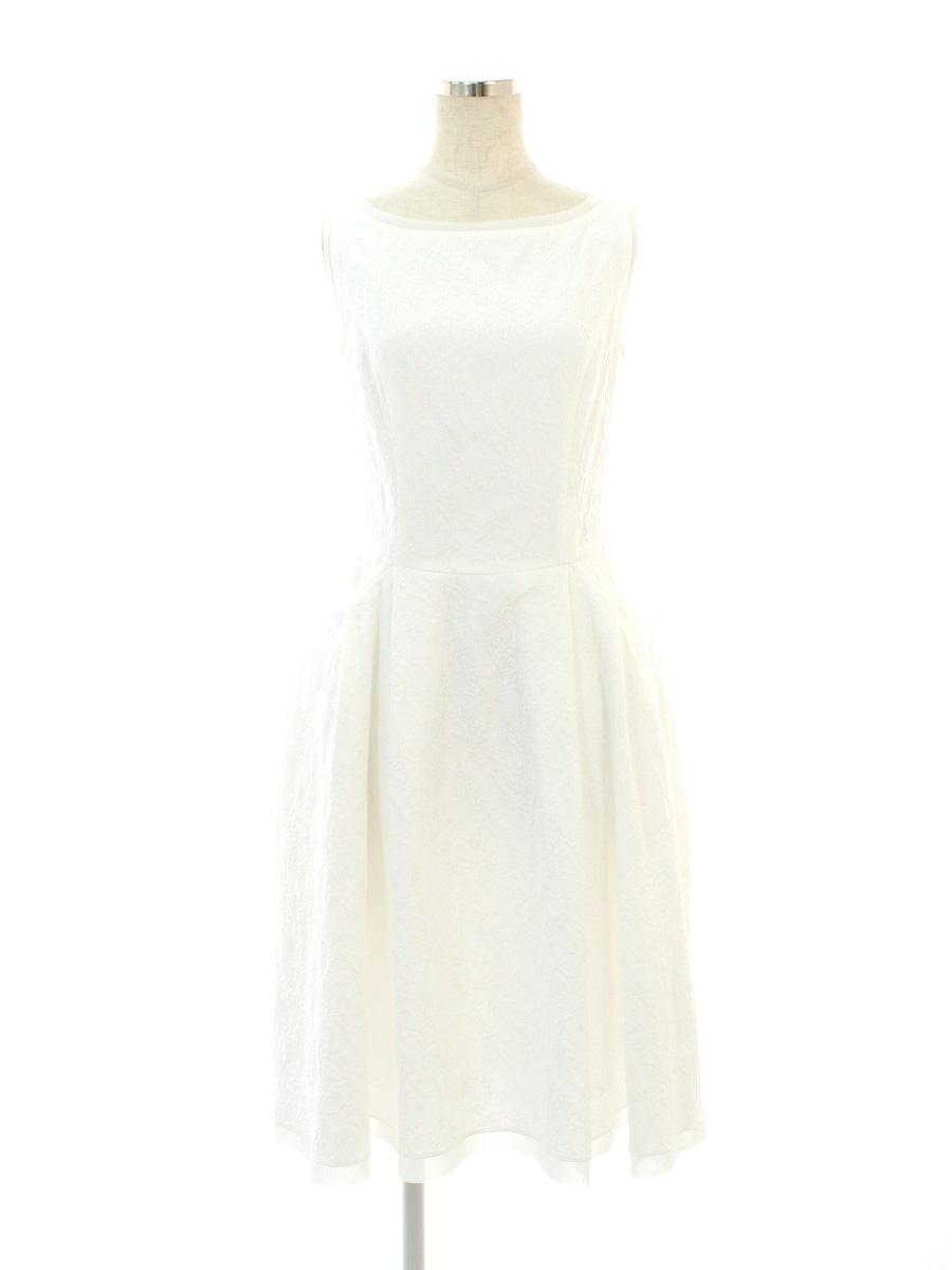 デイジーリン for フォクシー ワンピース 06011 Dress Waffle Lady 総柄 ノースリーブ 38【Aランク】【中古】tn190623