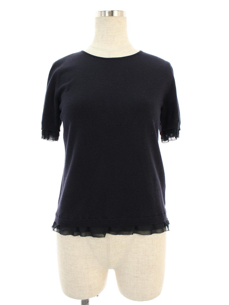 フォクシーブティック ニット セーター Knit Top Sweet Madeleine 半袖 38【Aランク】【中古】tn190707