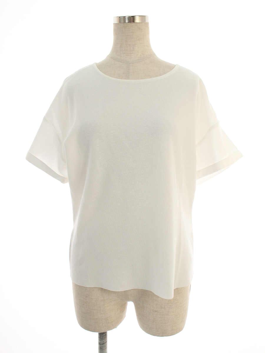 フォクシーブティック ニット セーター 39516 Knit Top Back Ribbon 半袖 40【Aランク】【中古】tn190808