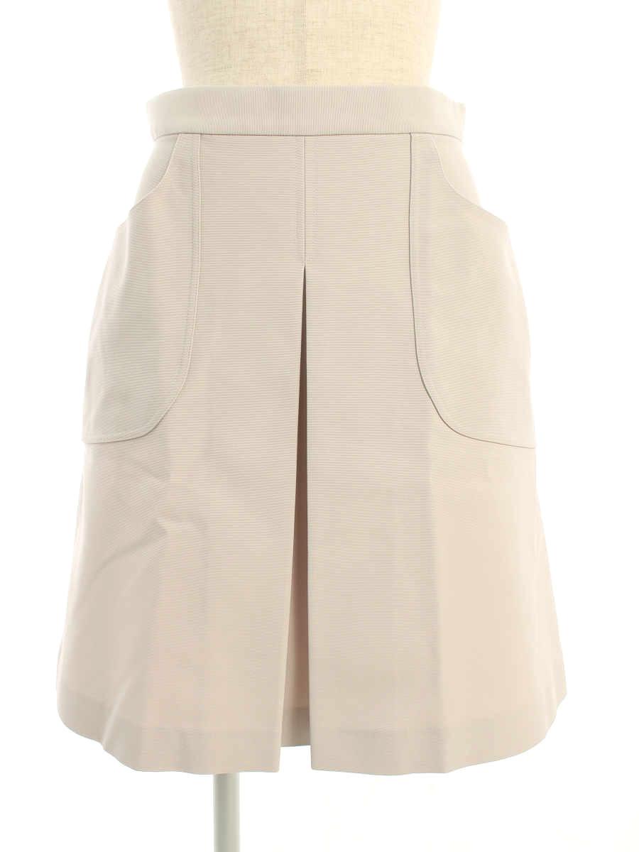 フォクシーニューヨーク スカート 35073 Faille Cargo Pleated Skirt 40【Aランク】【中古】tn190714