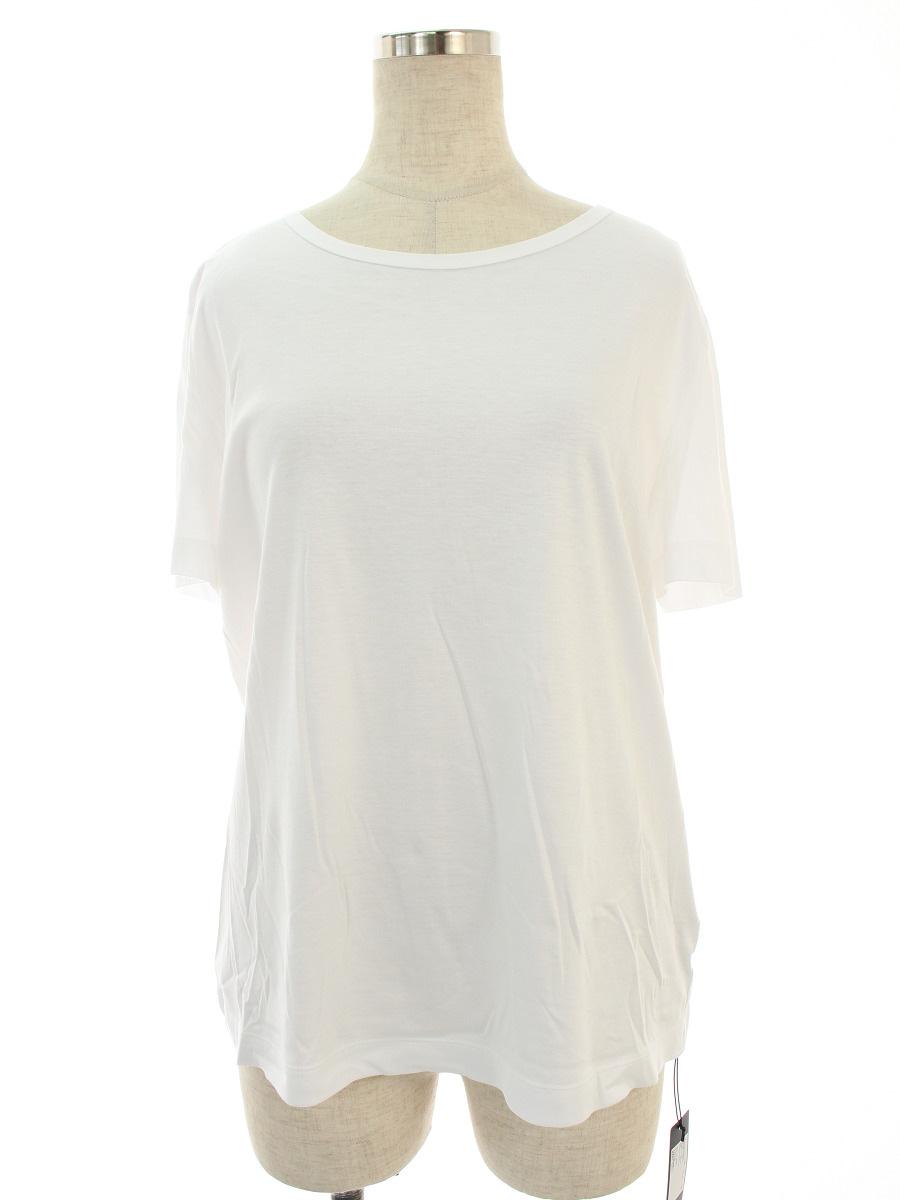 フォクシーニューヨーク Tシャツ カットソー ロゴ ラインストーン 半袖 42【Sランク】【中古】tn190718
