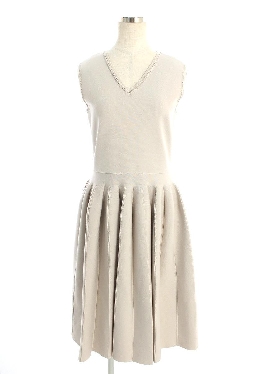フォクシーブティック ワンピース Dress REFRAN ノースリーブ 38【Aランク】【中古】tn190804