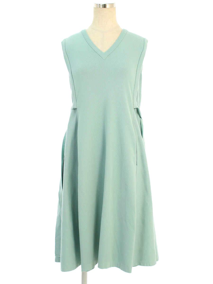 フォクシーブティック ワンピース 38307 Knit Dress ノースリーブ 38【Aランク】【中古】tn190822