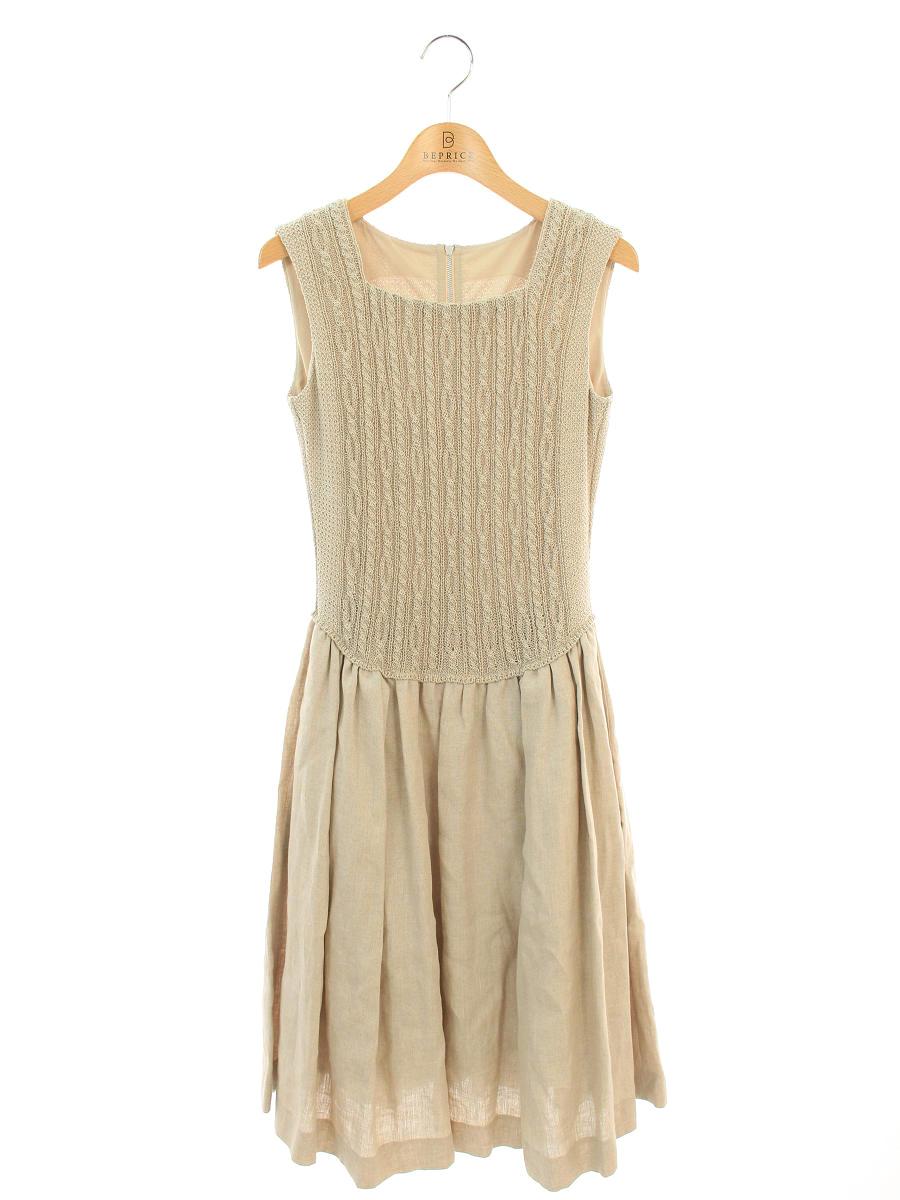 フォクシーブティック ワンピース Cable Dress ノースリーブ 38【Aランク】【中古】tn190822