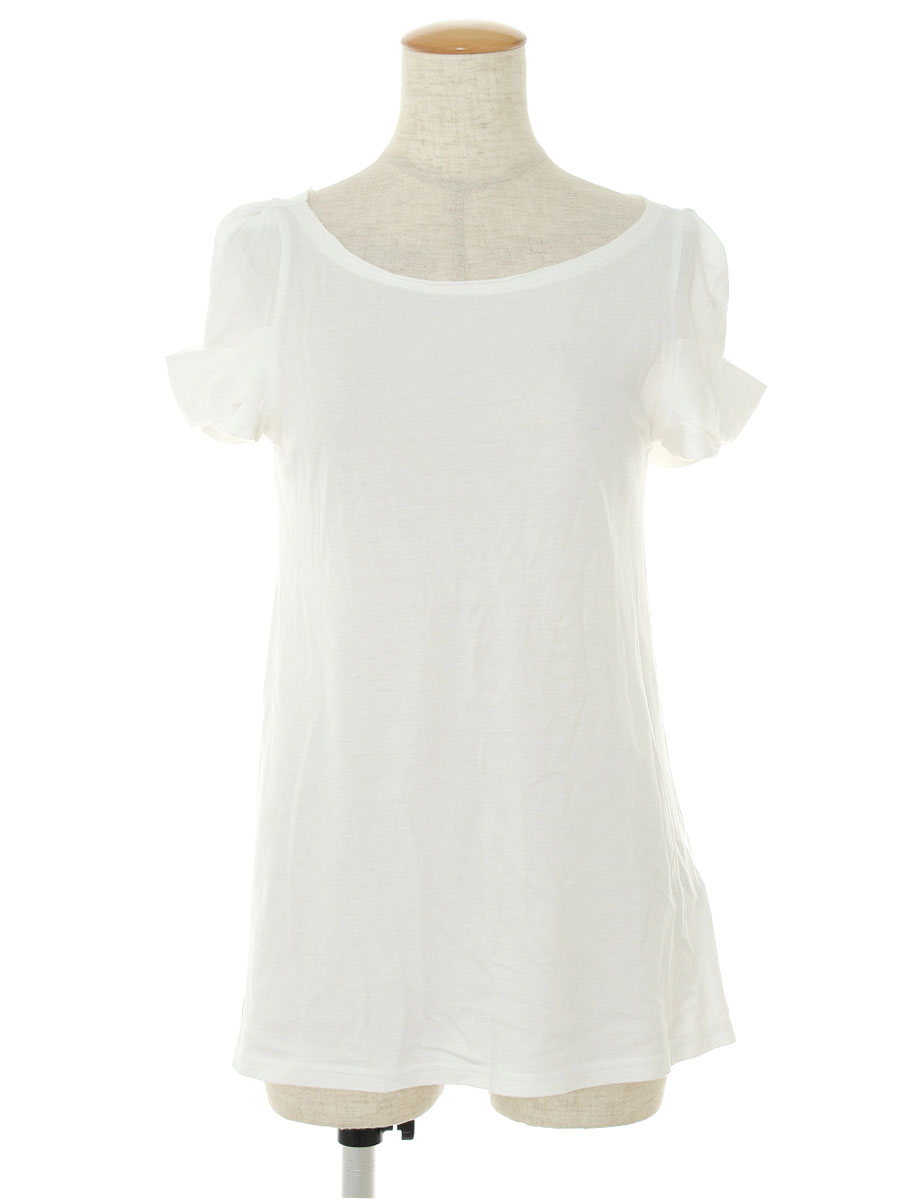 フォクシーニューヨーク Tシャツ カットソー 33522 T Tops Black White Puff 半袖 38 Bランク tn190901QdxWEoBerC