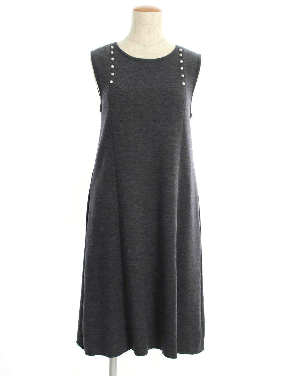 フォクシーブティック ワンピース Panel Seam Dress ノースリーブ 40【Aランク】【中古】tn190829