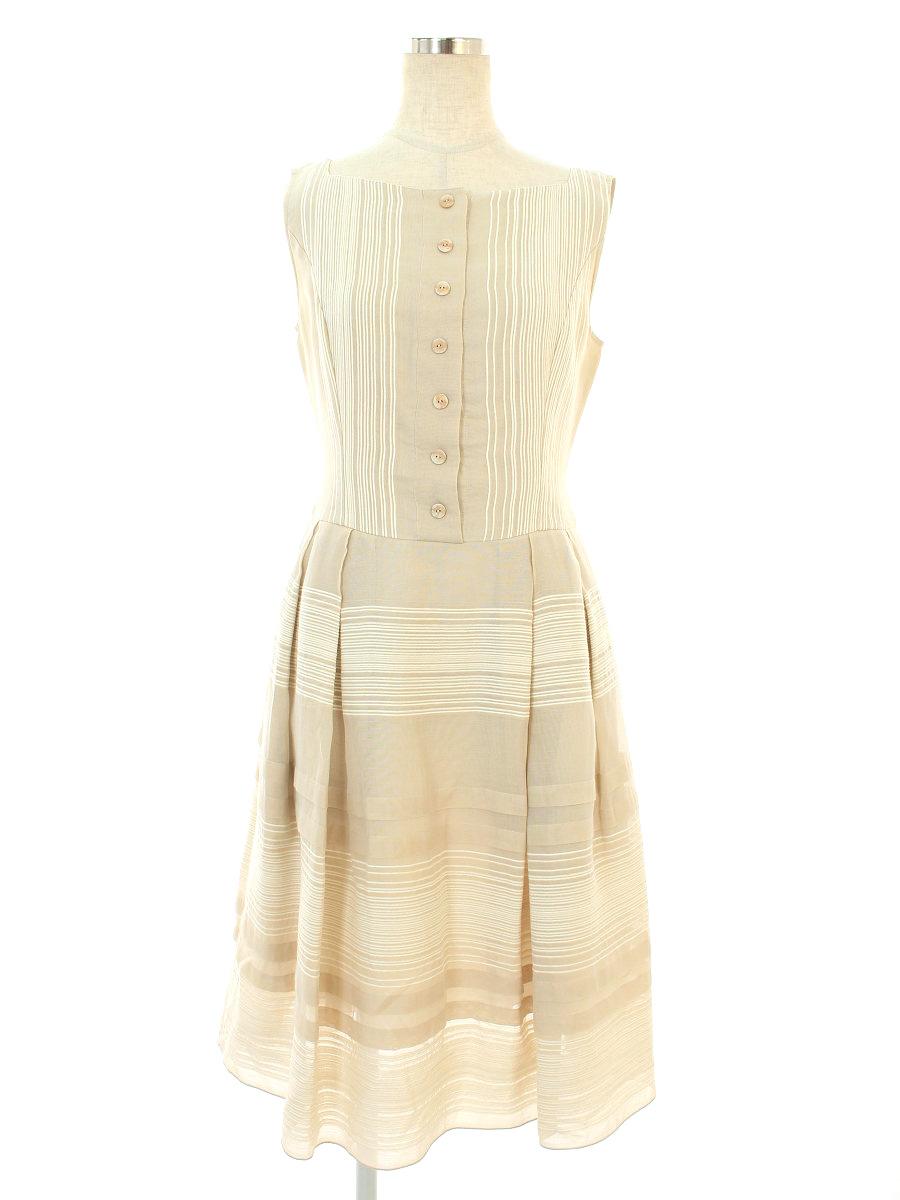 フォクシーブティック ワンピース Dress 総柄 ノースリーブ 38【Aランク】【中古】tn190915