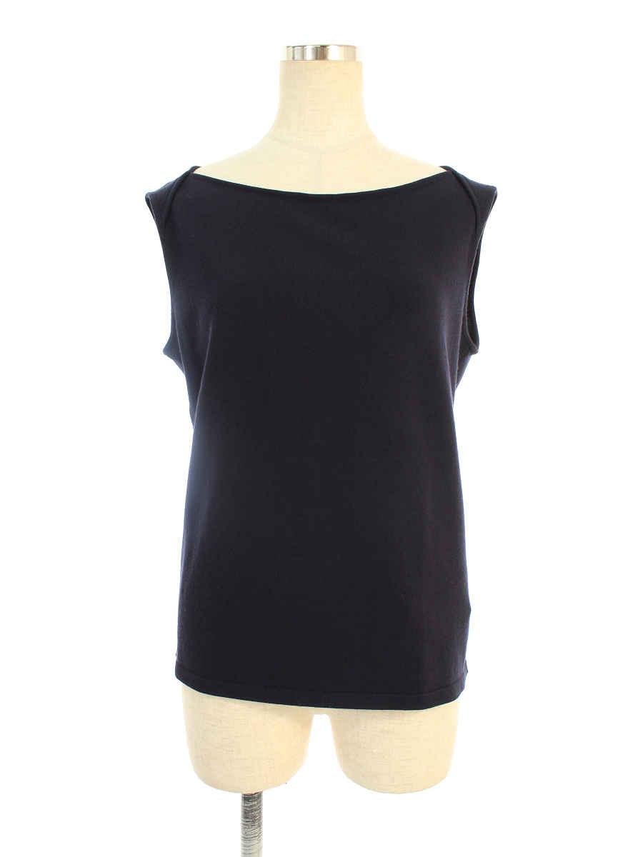 フォクシーブティック Tシャツ カットソー 37647 Knit Top Marigold ノースリーブ 42【Aランク】【中古】tn191003