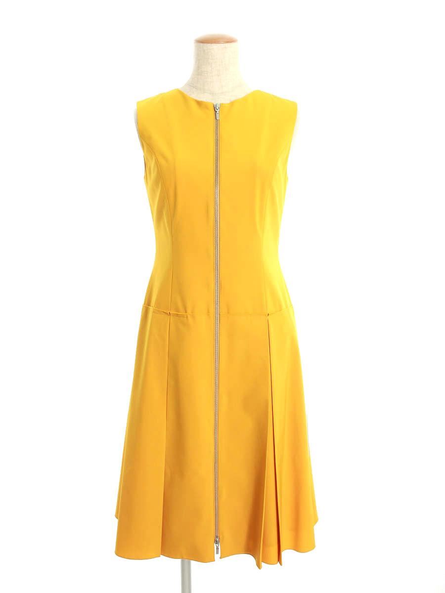 フォクシーニューヨーク ワンピース 38337 Dress ウォータープルーフストレッチ ノースリーブ 38【Aランク】【中古】tn191003