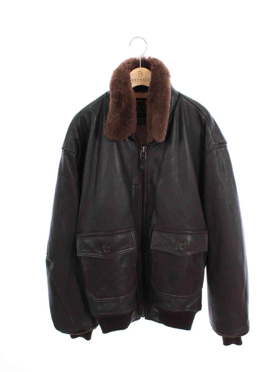 アヴィレックス ジャケット G-1 レザージャケット ラムレザー 7823 ボア【Aランク】【中古】tn191010