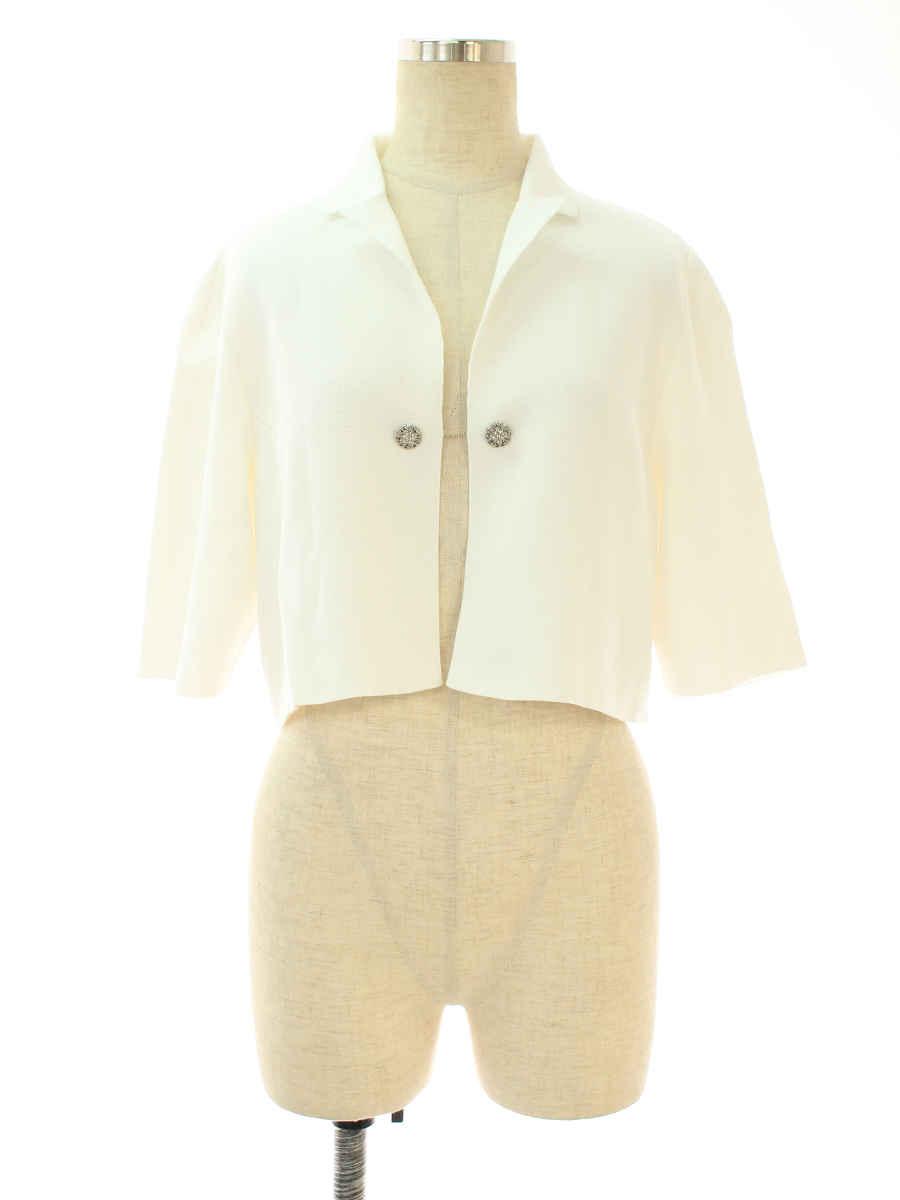 フォクシーブティック カーディガン 37110 Jacket Little Jewel 半袖 42【Bランク】【中古】tn191027