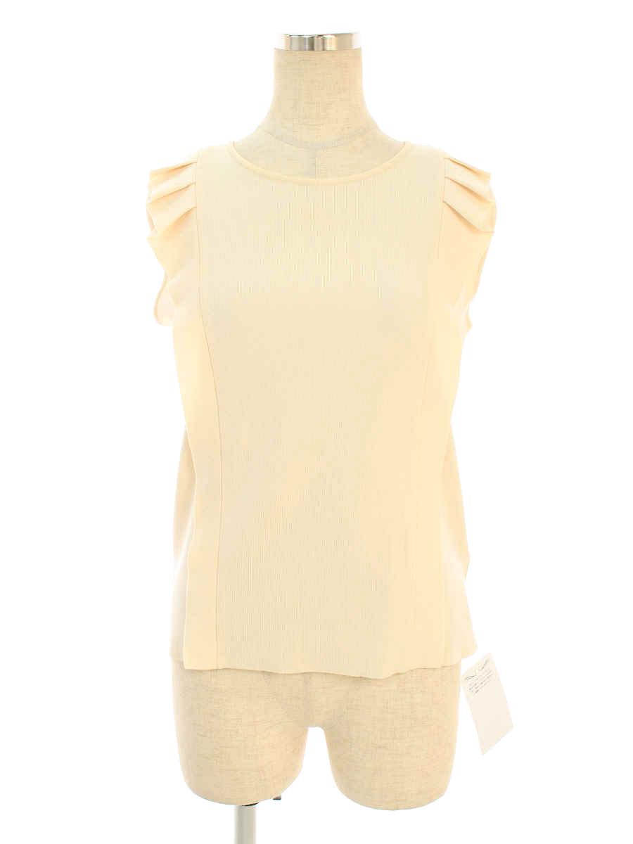 フォクシーブティック Tシャツ カットソー 38001 Knit Top olive ノースリーブ 40【Aランク】【中古】tn191103
