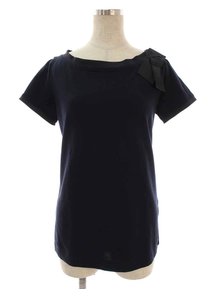 フォクシーニューヨーク Tシャツ カットソー 36331 T-shirt Charm Boat リボン 半袖 38【Aランク】【中古】tn191208
