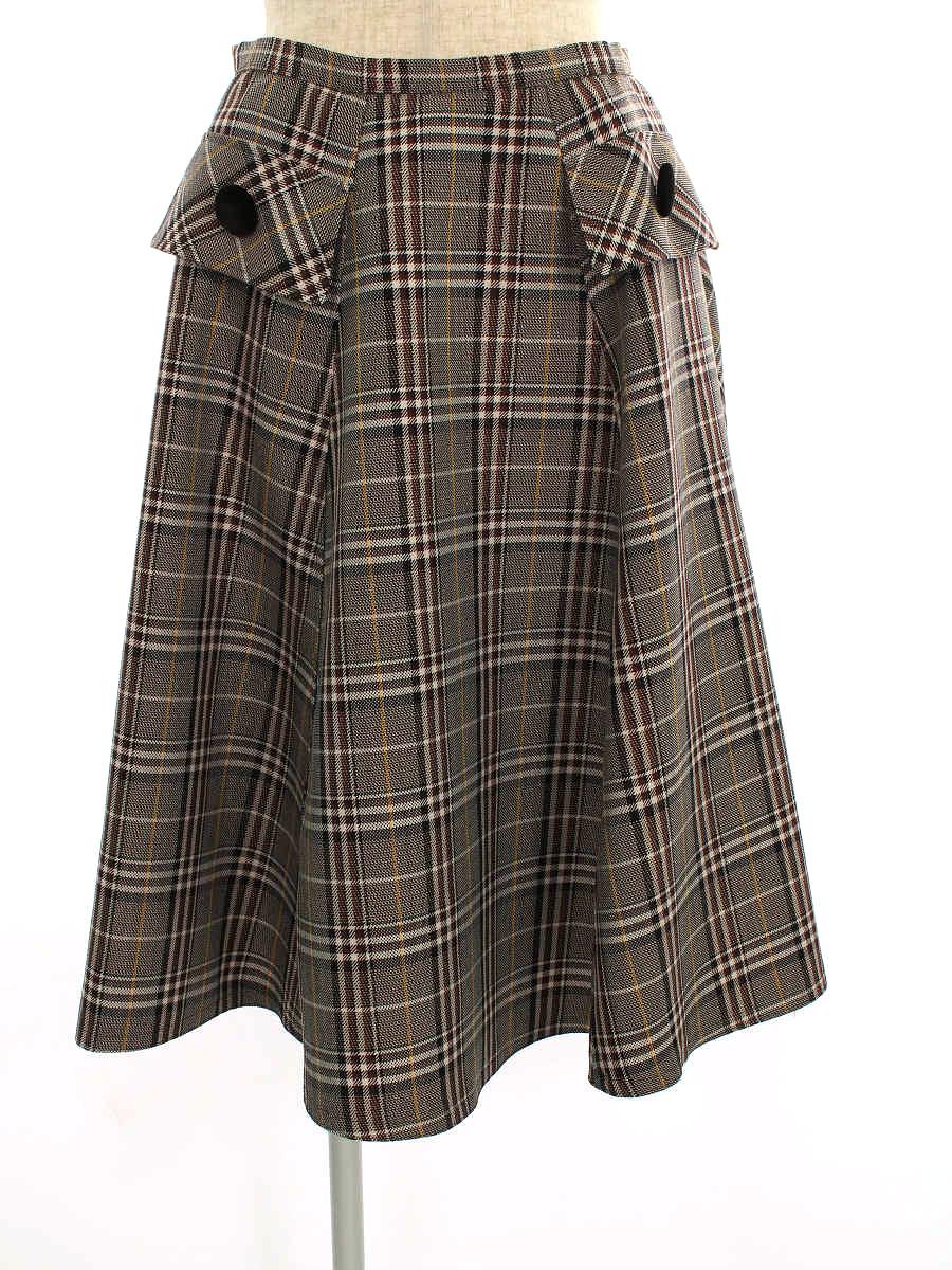 エムズグレイシー スカート British Check Skirt チェック 38【Aランク】【中古】tn191208