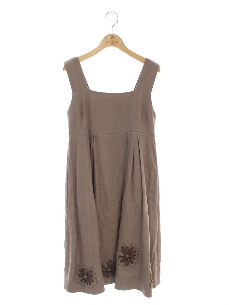 フォクシーブティック ワンピース 38278 Dress Soleil GINZA 20TH ノースリーブ 38【Aランク】【中古】tn191215