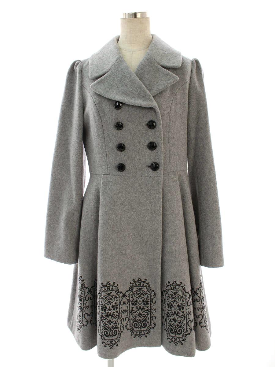 ドーリーガールバイアナスイ コート 裾刺繍 無地 3【Aランク】 【中古】 tn191219