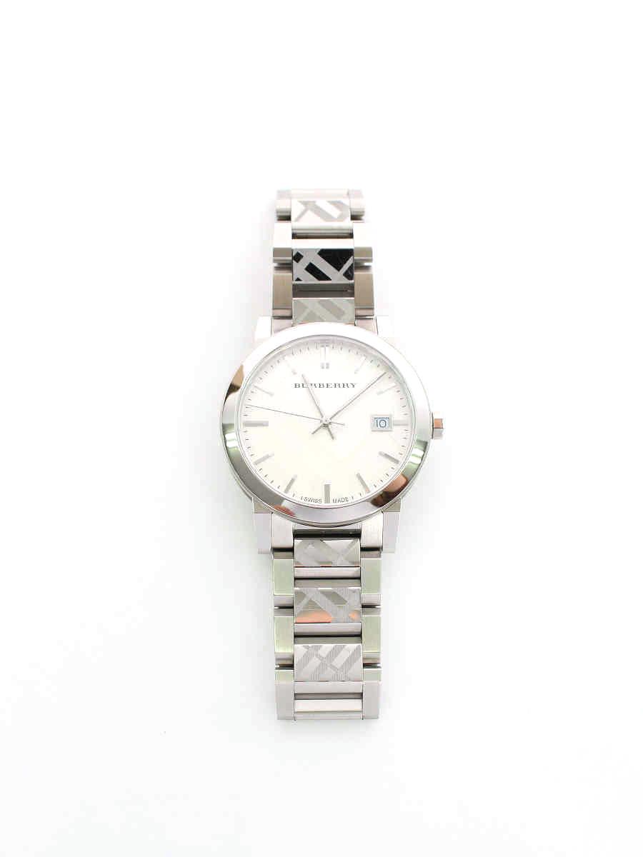 バーバリー 腕時計 クオーツ ステンベルト ノバチェック柄 デイトあり【Aランク】【中古】tn200112