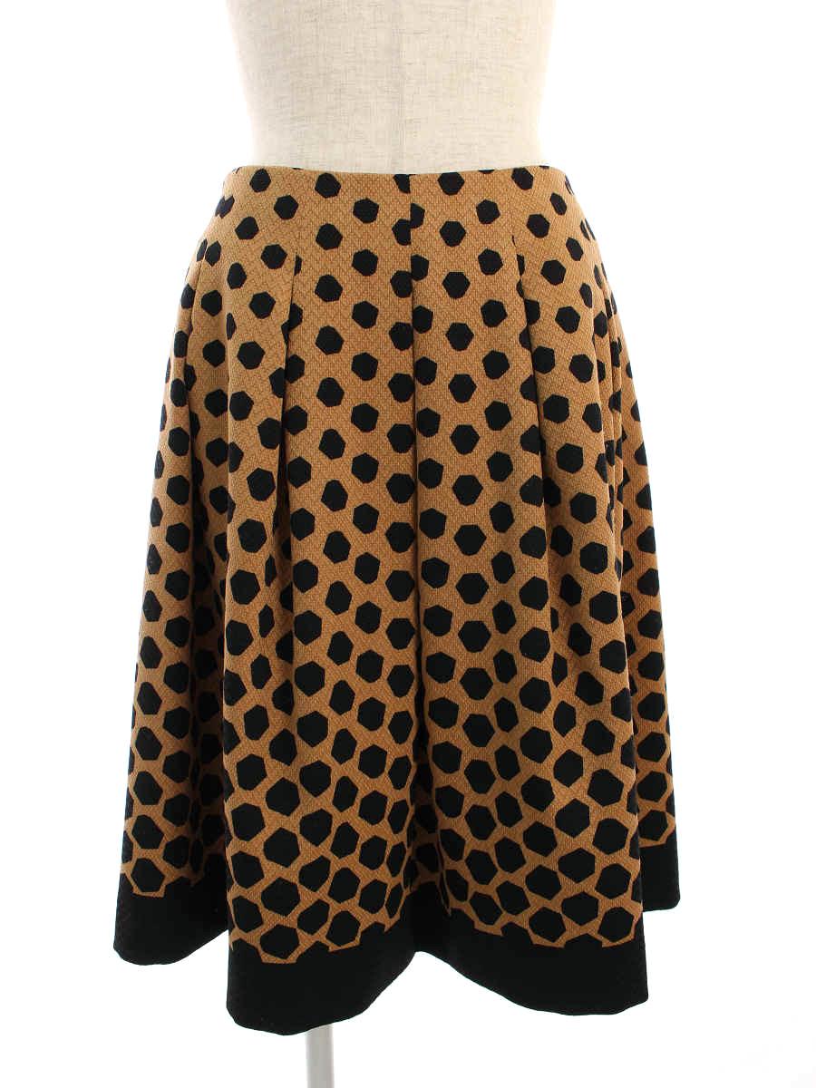 エムズグレイシー スカート Modern Black&Pink Skirt 総柄 38【Aランク】【中古】tn200116