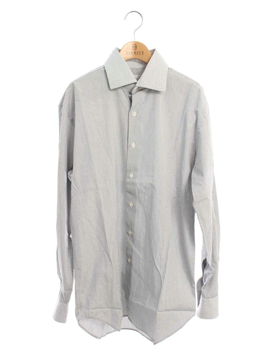 ダンヒル シャツ Yシャツ コットン ストライプ 長袖 サイズ表記なし【Aランク】【中古】tn200126