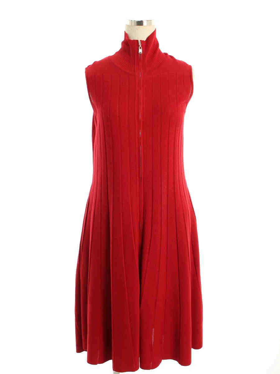 アディアム ワンピース 39593 Dress フロントジップ ノースリーブ 2【Aランク】【中古】tn200213