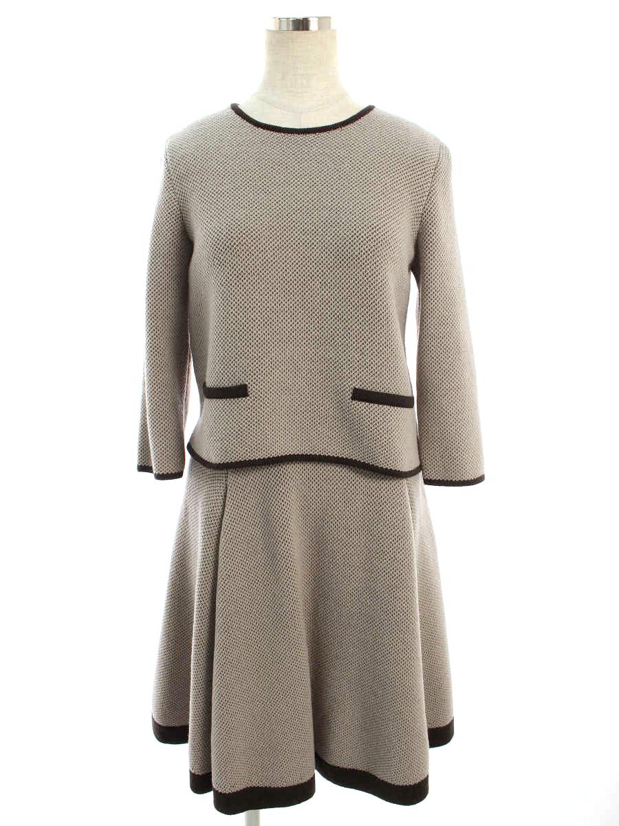 フォクシーブティック スカートスーツ 34891 Knit Suit Chiboust 38/38【Bランク】【中古】tn200301