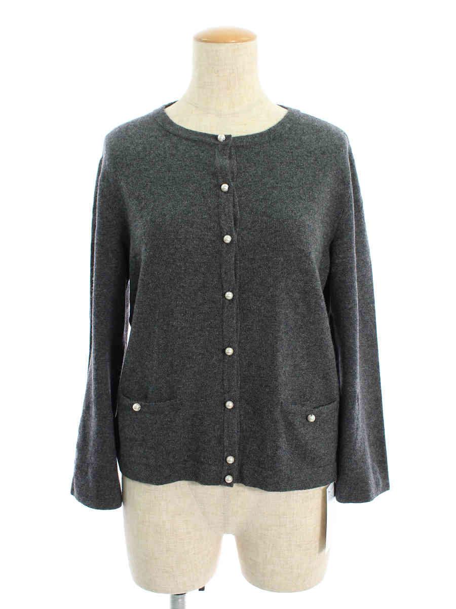 フォクシーブティック カーディガン 36714 Pearl Embroidered Cardigan 長袖 42【Aランク】【中古】tn200305