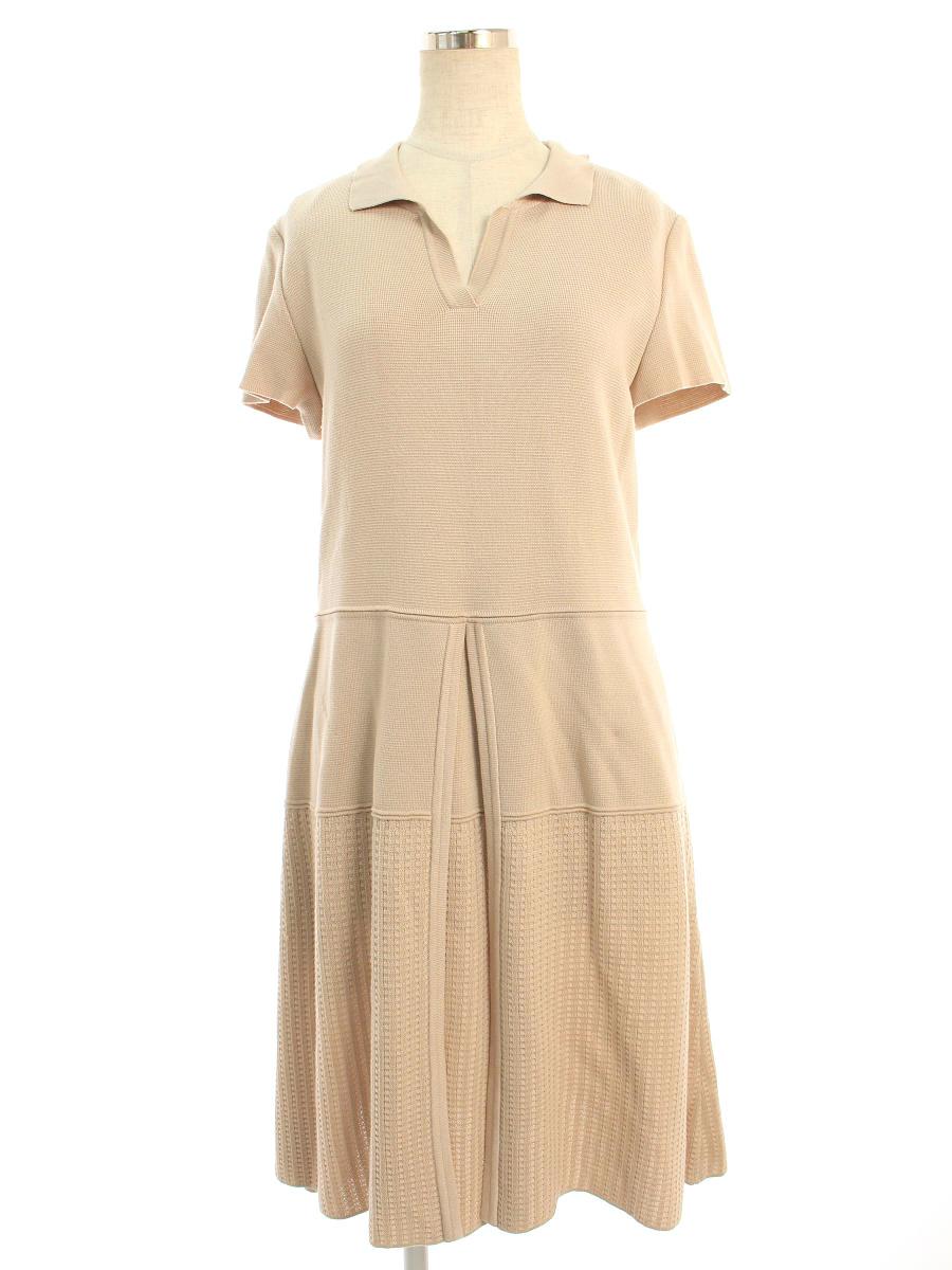 フォクシーニューヨーク collection ワンピース 37442 Knit Dress 半袖 40【Aランク】【中古】tn200312