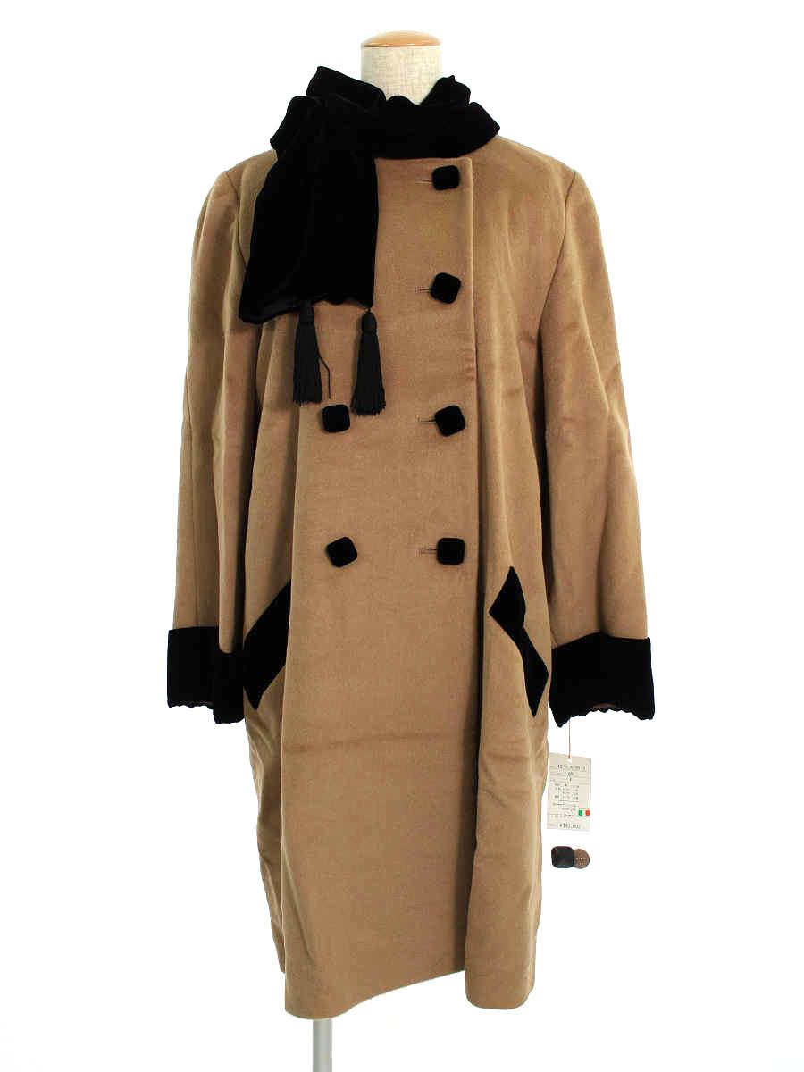 フォクシーブティック コート Wool Koat ベロアスカーフ付き F【Aランク】【中古】tn200322