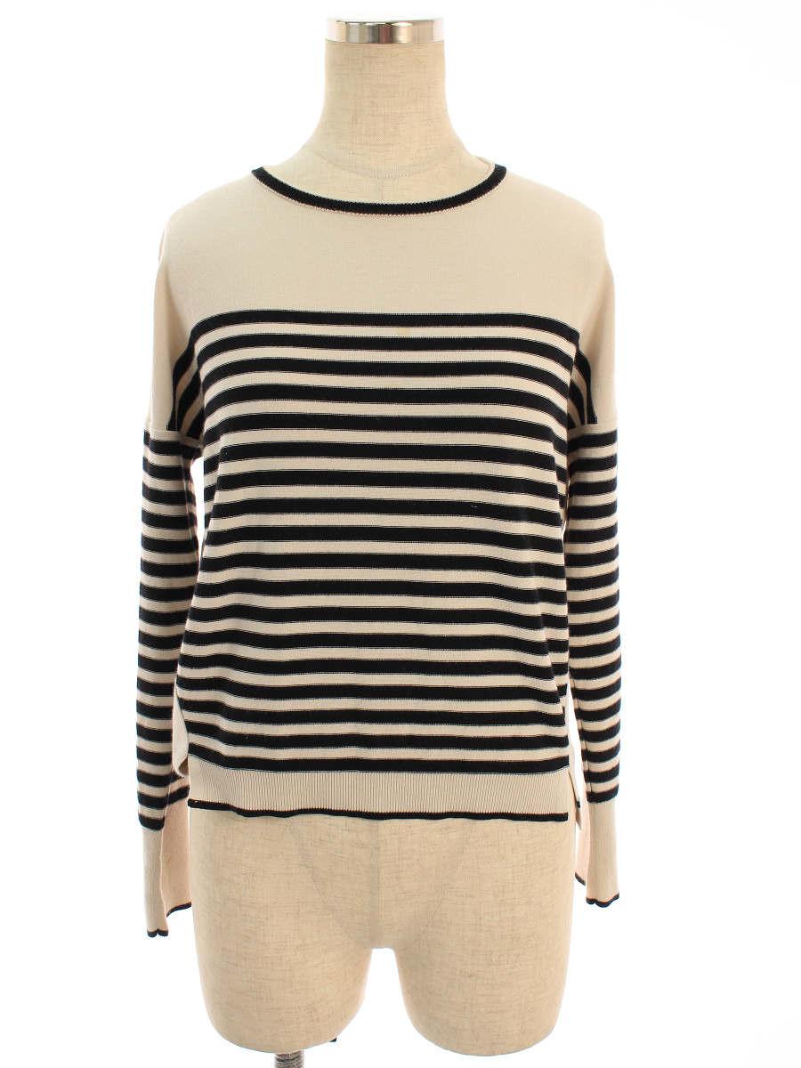 フォクシーブティック Tシャツ カットソー 35619 Sweater Parisien Cecile ボーダー 長袖 38【Bランク】 【中古】 tn200329