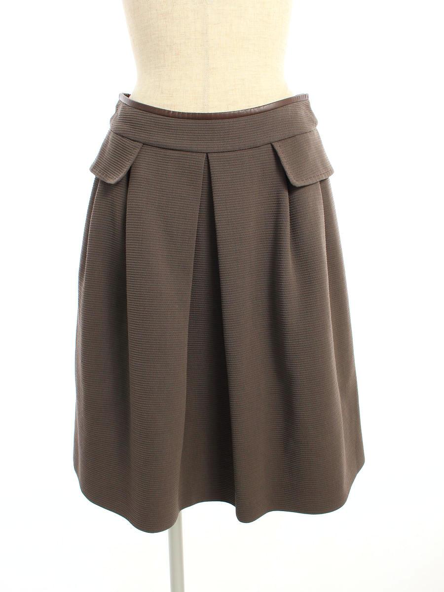 フォクシーブティック スカート 36137 Jasmine 無地 40【Aランク】 【中古】 tn200329
