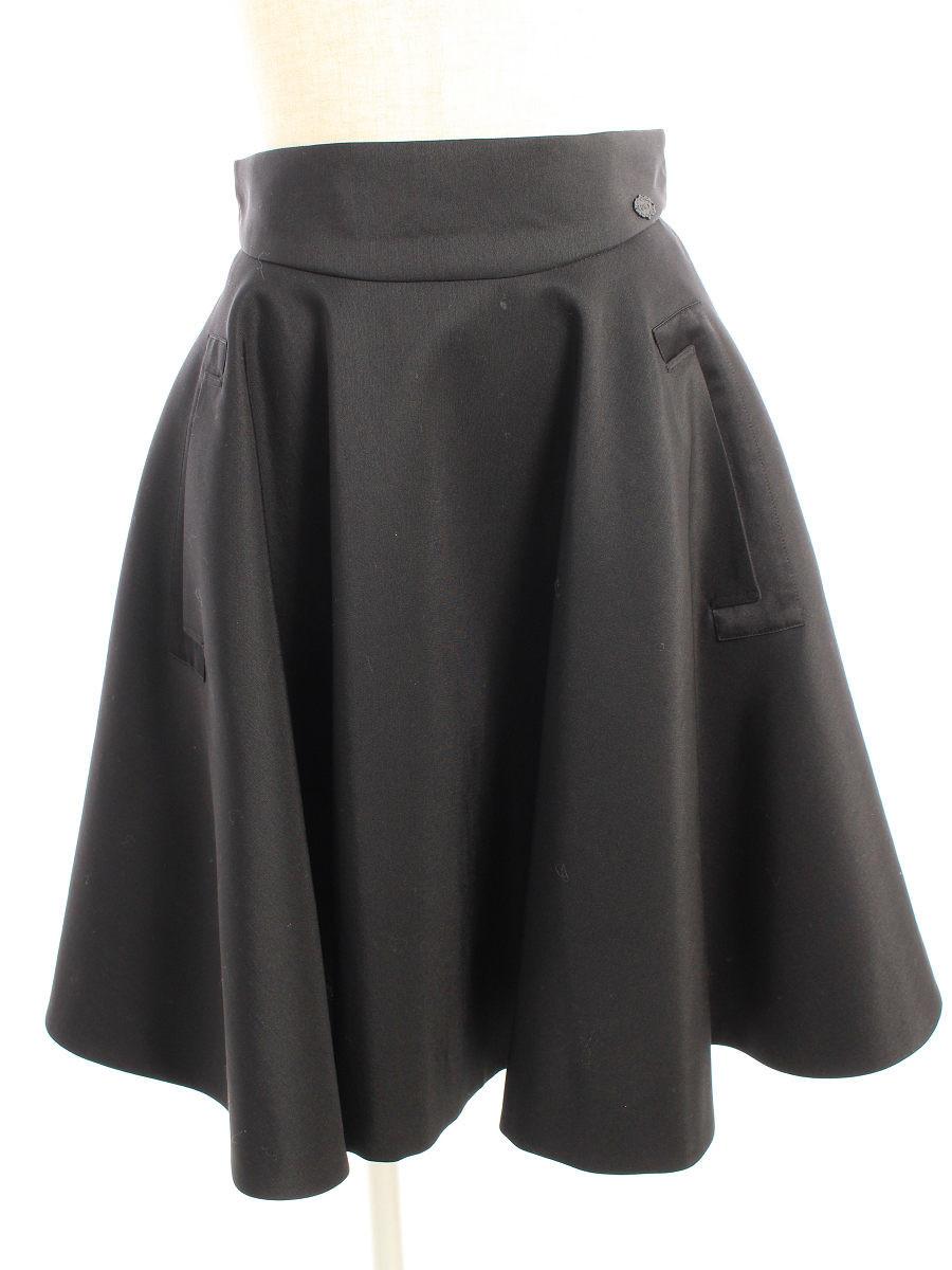 フォクシーブティック スカート 34039 スカート Black Jade 無地 38【Bランク】 【中古】 tn200329