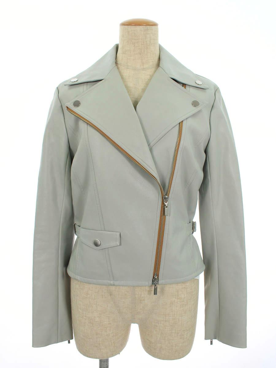 フォクシーニューヨーク collection ジャケット 35650 Faux Leather Jacket moon shine 38【Bランク】 【中古】 tn200405