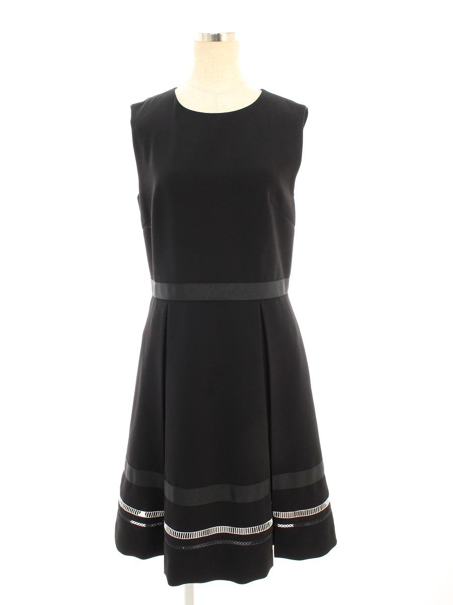 フォクシーニューヨーク collection ワンピース Dress 無地 ノースリーブ 40【Bランク】 【中古】 tn200402