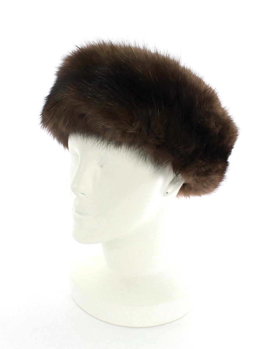 フォクシーブティック 帽子 カシミヤ セーブル トーク帽 GINZA 20 th 無地 F【Aランク】 【中古】 tn200402