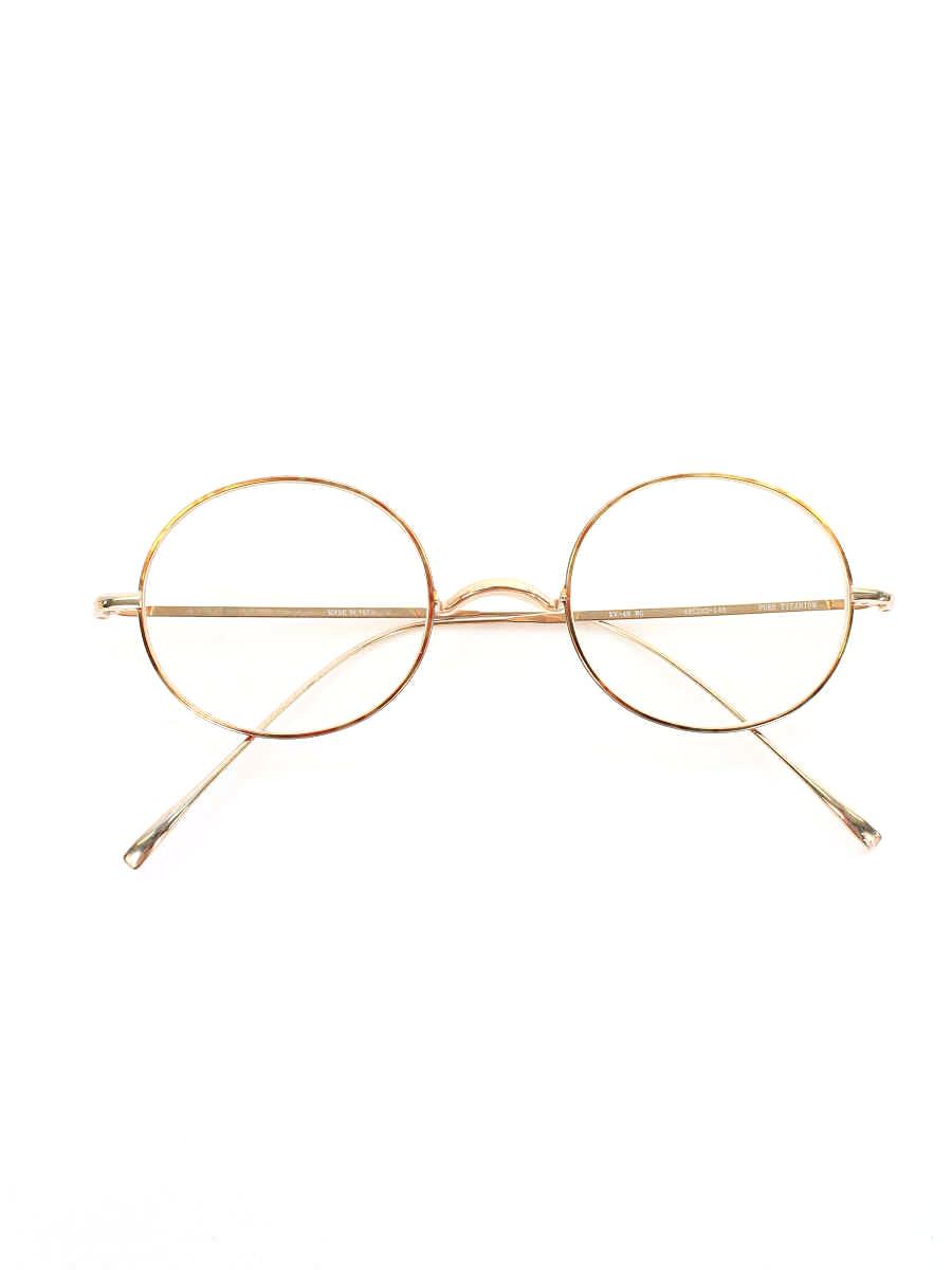 金子眼鏡 メガネ PURE TITANIUM 丸眼鏡 無地【Aランク】 【中古】 tn200412