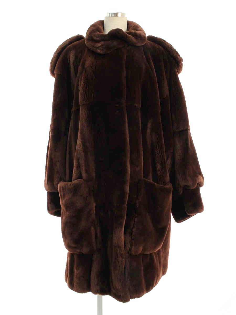 フォクシーブティック コート ヌートリア シェアード ワンポイント 長袖 -【Aランク】 【中古】 tn200430
