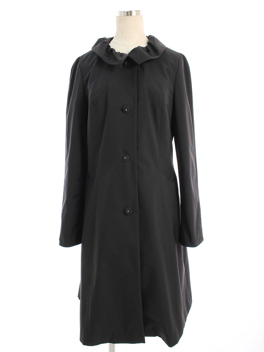 正規認証品 新規格 エムズグレイシー アウター コート ショッピング ギャザー襟 スプリング tn200604 40 中古 Aランク
