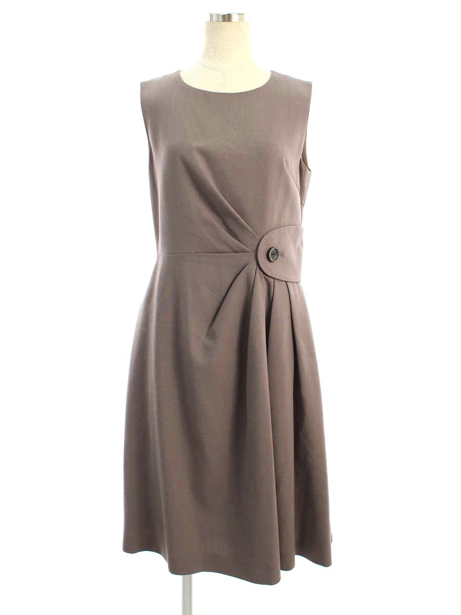 フォクシーブティック ワンピース Dress 無地 ノースリーブ 40【Bランク】 【中古】 tn200705