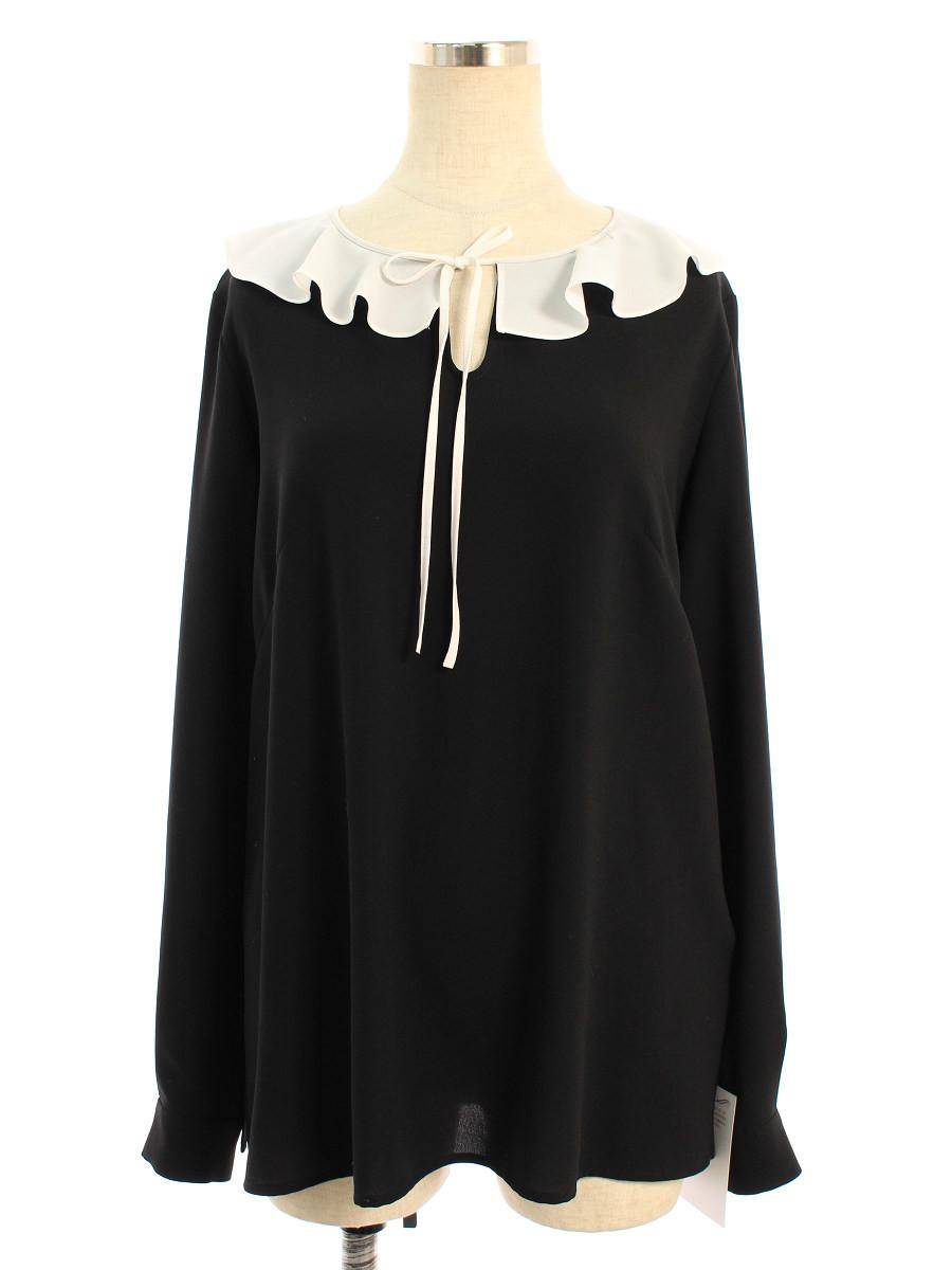 ルネ Tシャツ カットソー 衿付き 無地 長袖 36【Aランク】 【中古】 tn200611