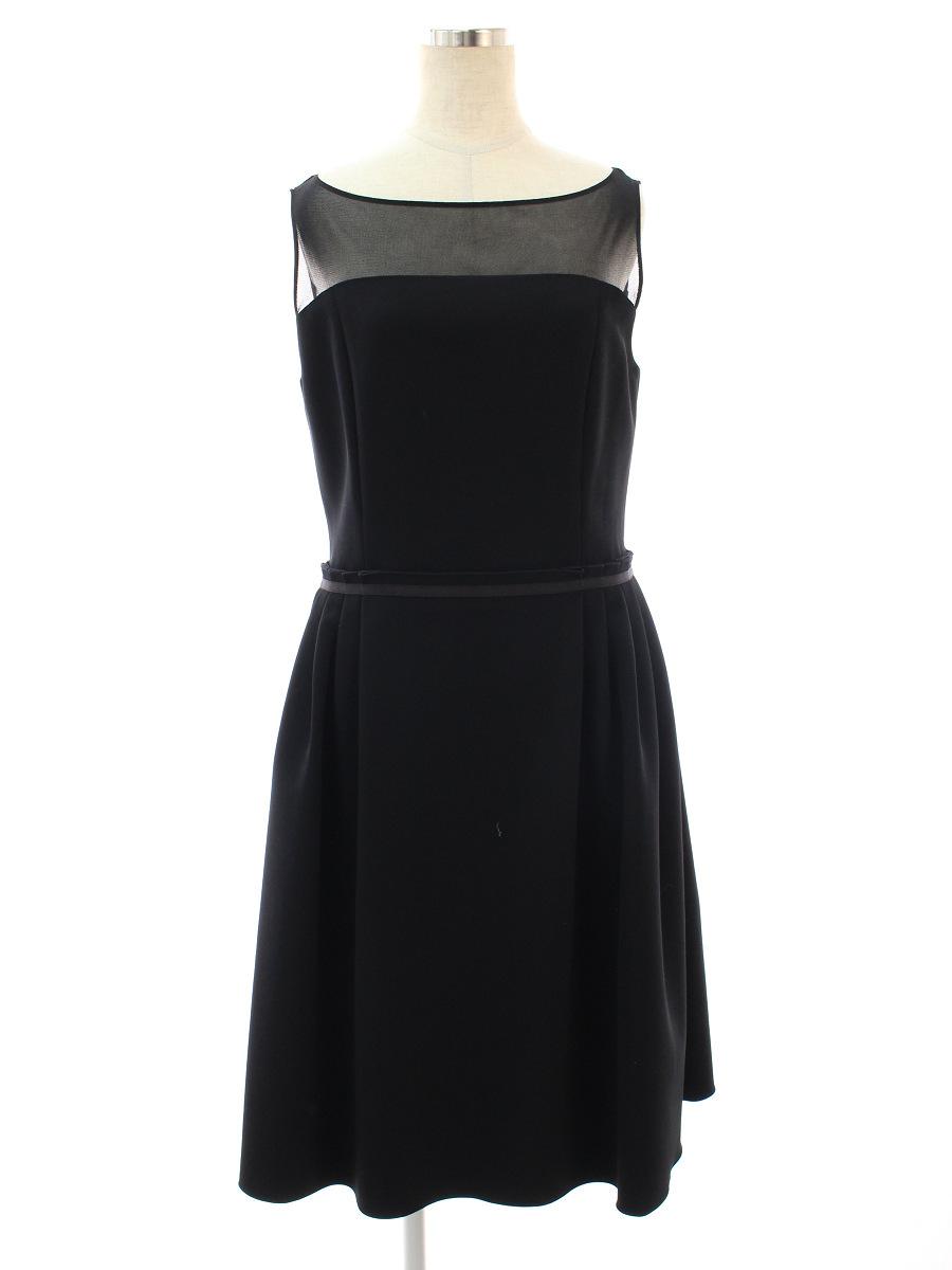 フォクシーニューヨーク ワンピース 39837 dress Primadonna 無地 ノースリーブ 40【Aランク】 【中古】 tn200719