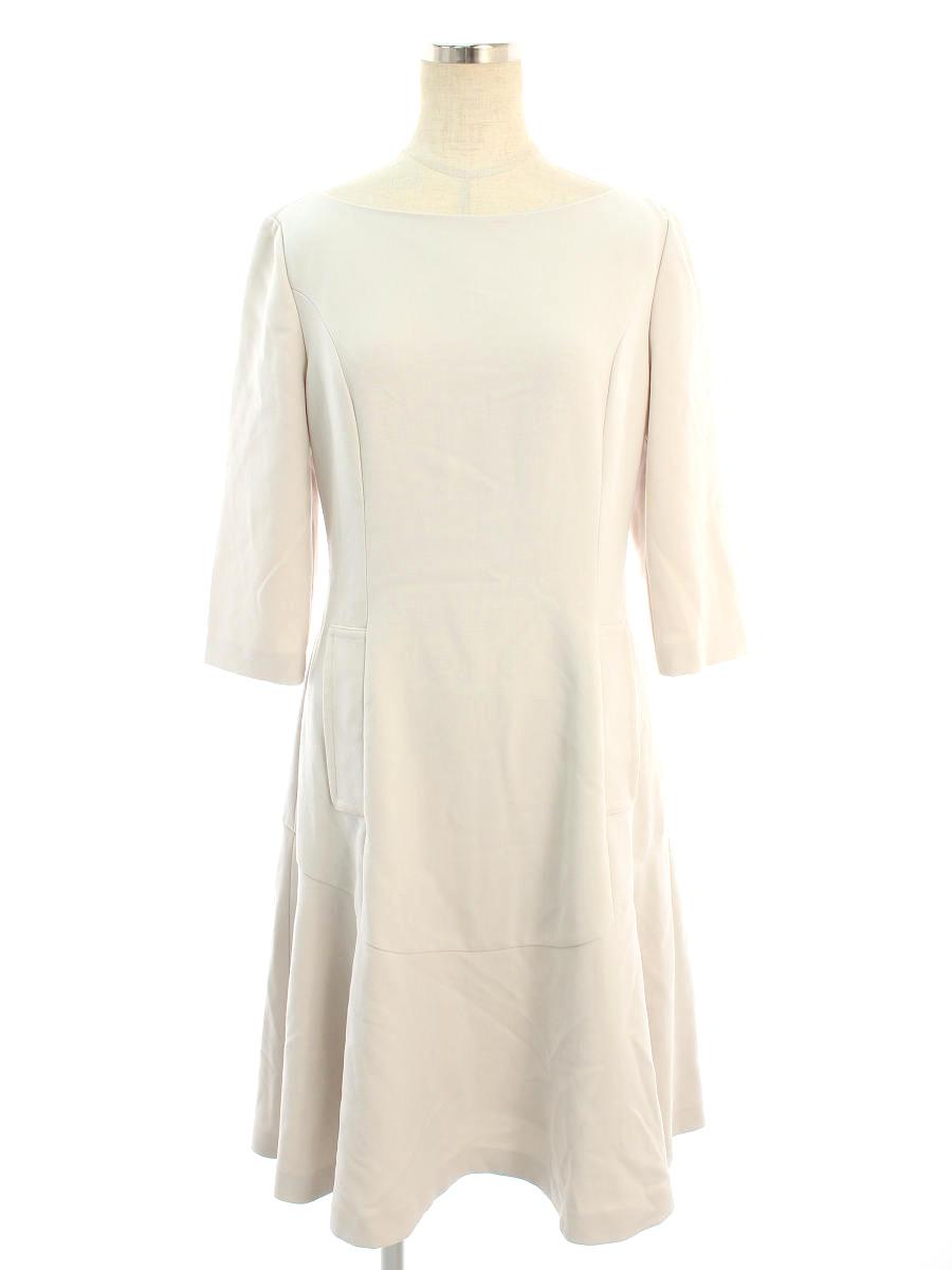 フォクシーニューヨーク ワンピース 35035 Half Sleeve Dress 無地 半端袖 40【Aランク】 【中古】 tn200726