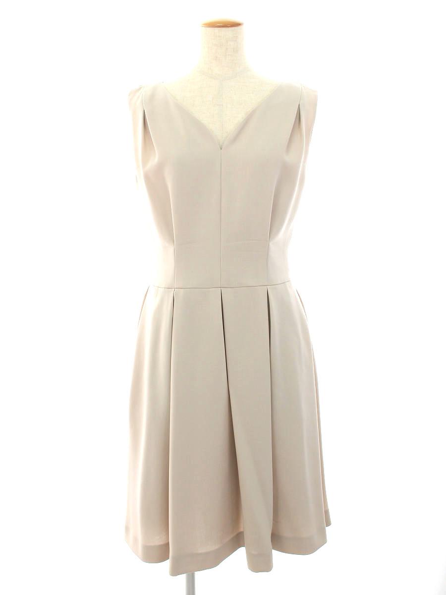 フォクシーブティック 特売 ワンピース 37658 Dress Retro 定番キャンバス Flora ノースリーブ Bランク 40 tn210801 中古