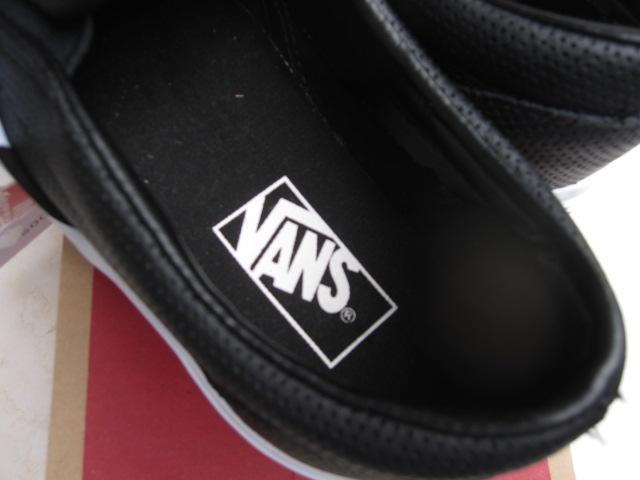 61e1becc802 VANS (vans) CLASSIC SLIP-ON (PERF LEATHER) BLACK (classic slip-on × perforated  leather) slip on USA limited