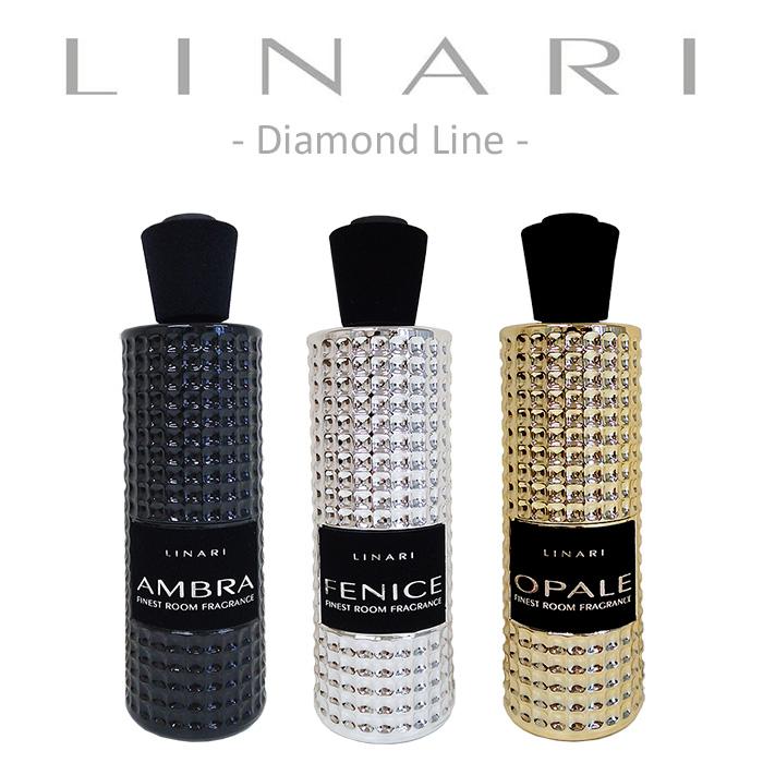 リナーリLINARI リードディフューザー ダイアモンド ライン (ブラックスティック) 500ml あす楽 対応 ディフューザー フレグランス 芳香剤 スタイリッシュ 匂い 香り 高級