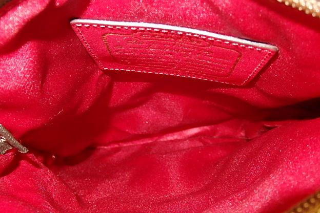 コーチ COACH シグネチャー ストライプ ショルダーバック 斜め掛け バッグ キャンバス レザー 41644 カーキ×レッド 茶 赤 レディース送料無料bk2720mwvN8n0O