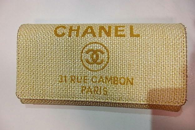 a9e07706e2b3 美品シャネルCHANEL財布長財布A80053ドーヴィルイエロー黄ココマークキャンバスレザー札入れ