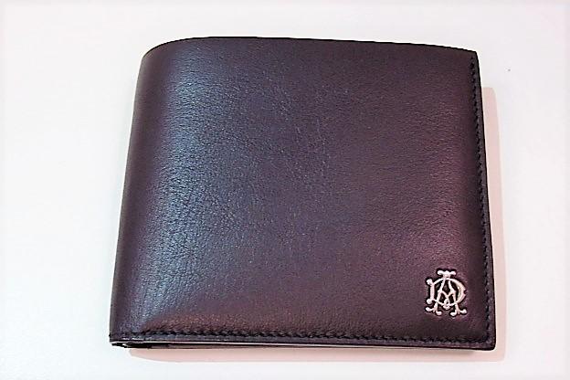 ダンヒル dunhill 財布 二つ折り財布 リーブス ブラック 黒 ソフト カーフ レザー 札入れ 小銭入れ ロゴ コンパクト ウォレット 紳士 メンズ レディース 【中古】 bs1611