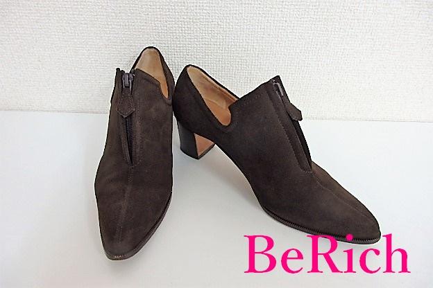 エルメス HERMES パンプス ブーティ 351/2 ブラウン 茶 スエード レザー 靴 ショート ブーツ 【中古】【送料無料】bh1685