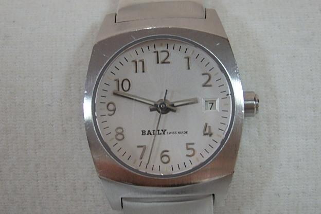 バリー BALLY レディース 腕時計 E160-179 アナログ デイト SS シルバー 文字盤 アクセサリー ジュエリー ウォッチ 時計 メンズ レディース  【中古】 bt1040